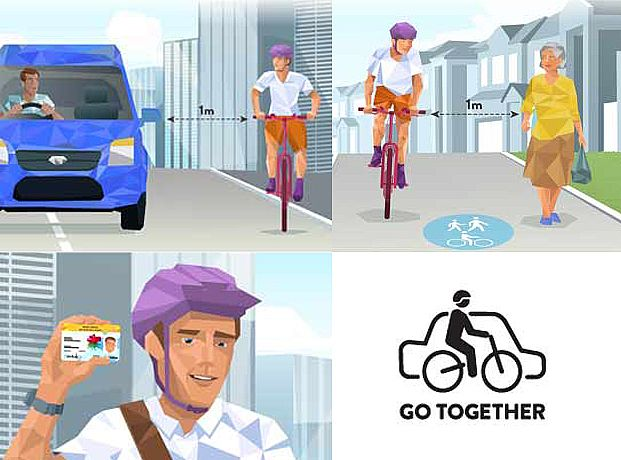 Cars, Bikes and Pedestrians Go Together