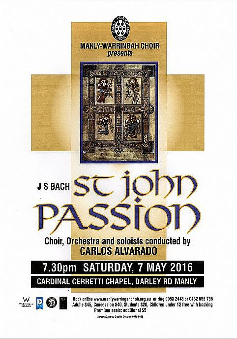 Passion & Violence in Manly - The St John Passion by JS Bach