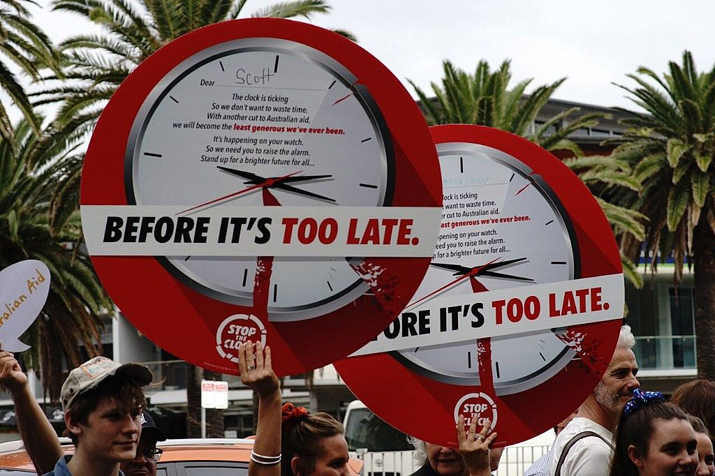 Aid Advocates Urge Scott Morrison to Stop the Clock on Further Aid Cuts