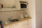 Kitchenette, microwave, sink