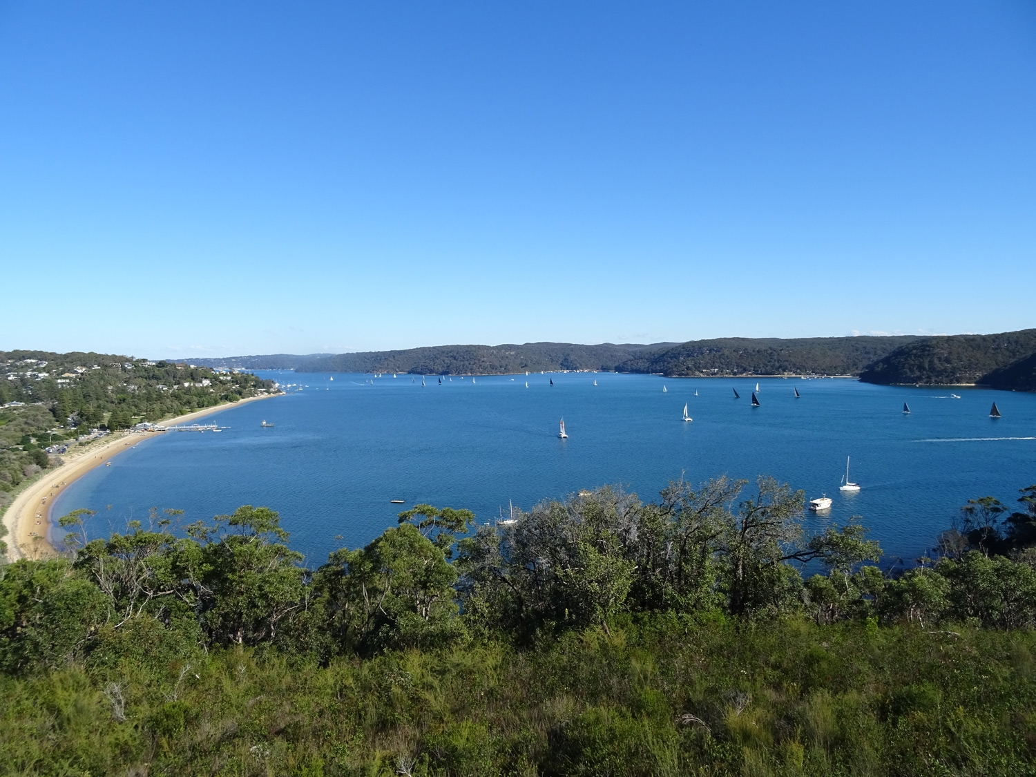 View of Pittwater from midway