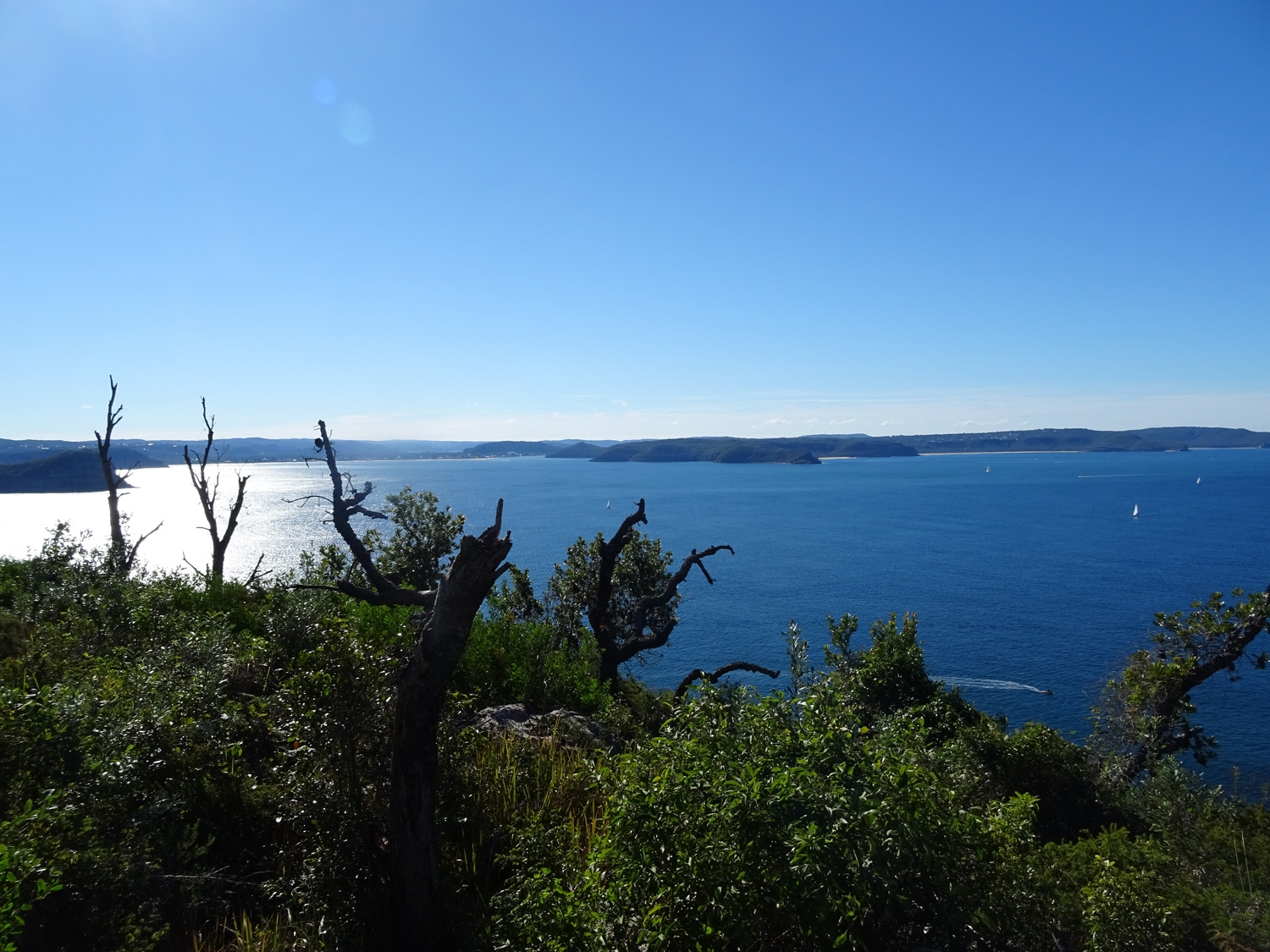 Views over Broken Bay to the Central Coast