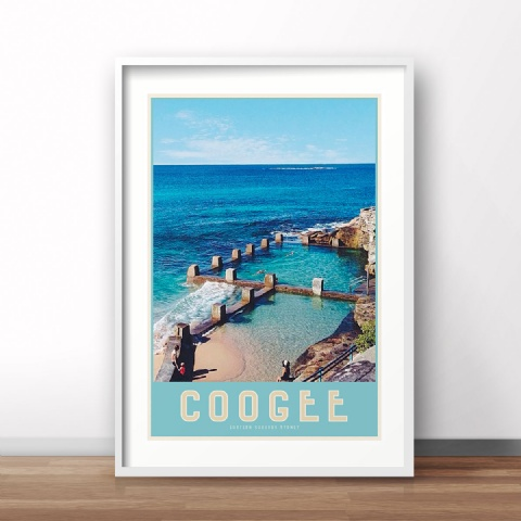 Coogee - Vintage Travel Style Poster