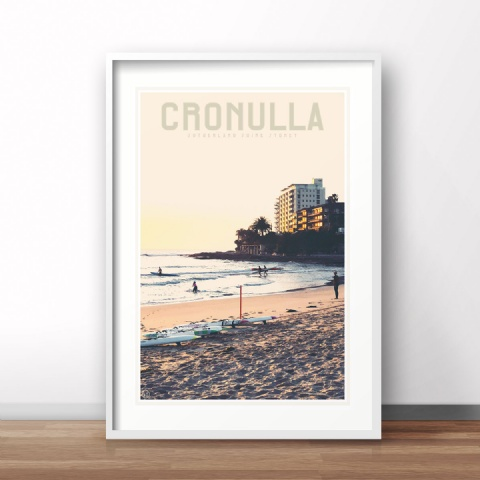 Cronulla - Vintage Travel Style Poster